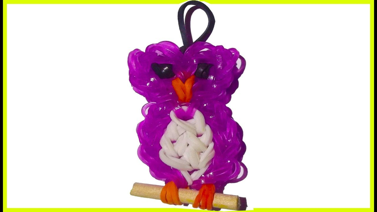 How To Make Loom Bands Animals Easy Owl With Forks Charms
