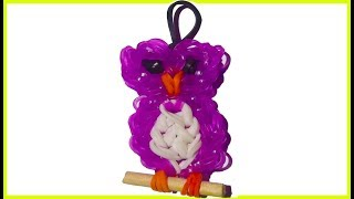 Owl Charm With two forks without Rainbow Loom bands Tutorial. (Mini Figurine)