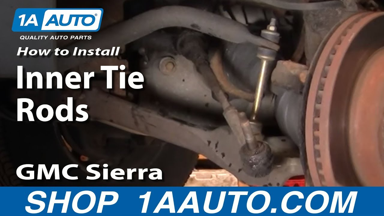how to install replace inner tie rod chevy silverado gmc sierra 99 06 1aauto com youtube [ 1920 x 1080 Pixel ]