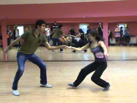 Sergey & Julia Deeps & Tricks Class at  Lindy Weekend 2013 Kirov