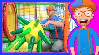 Learn Colors with Blippi at the Indoor Playground | 1 Hour