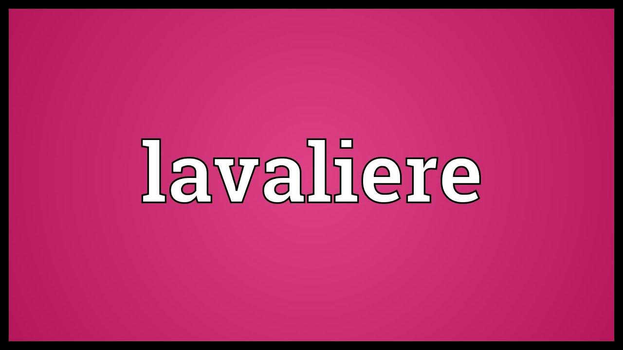 Lavaliere definition