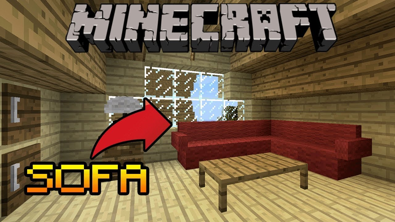 How To Make A Sofa With Pillow In Minecraft Pe Ps43 Xbox Switch