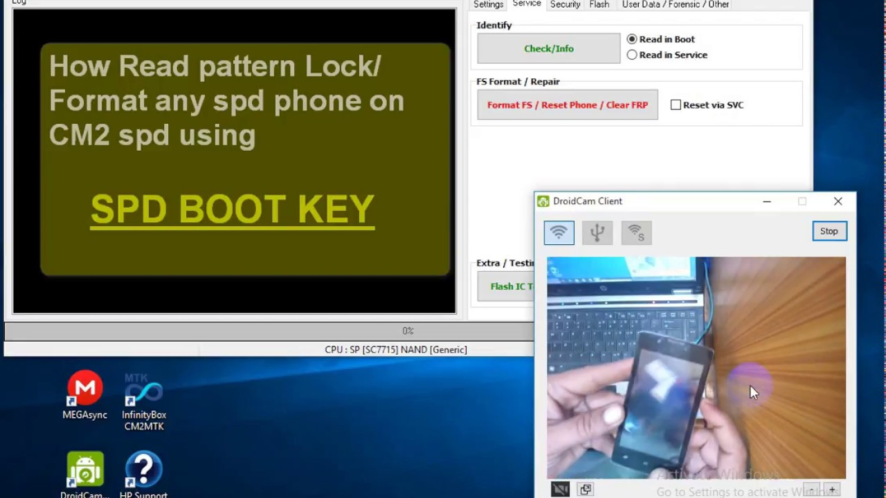 Q Mobile pattern lock formate-SPD Boot Key with CM2