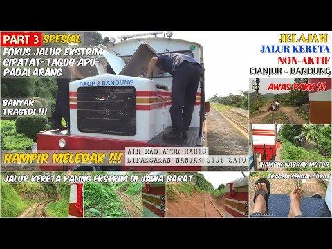 JALUR KERETA EKSTRIM | (Part 3) Jelajah Jalur Kereta Cianjur-Bandung dengan Lori Inspeksi