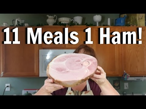 11 Meals From 1 Ham For Only $9!!!  / How To Save On Groceries