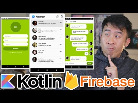 Kotlin Firebase Messenger 01: Brand New Series - Creating Register And Login UI