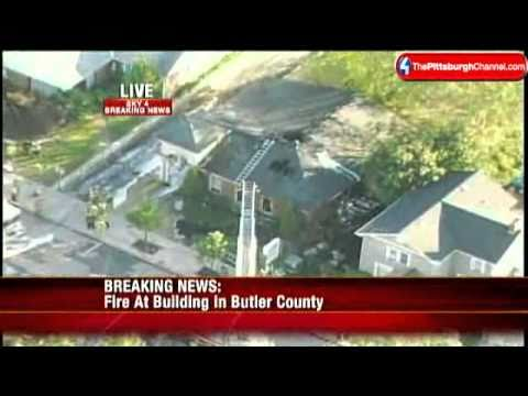 Building Catches Fire In Butler County