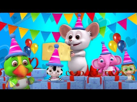 Happy Birthday Song | Kindergarten Nursery Rhymes | Video Songs For Babies Animation Video Vy Little Treehouse