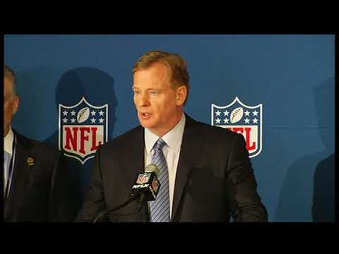 RAW VIDEO: Roger Goodell announces NFL national anthem policy