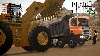 GTA 5 IV Map mod online Working on Mine Scania OffRoad Dumper + Worlds Big Wheel Loader