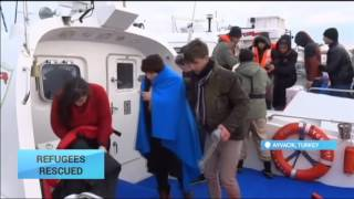Turkey Rescues 52 Refugees at Sea: Two smugglers were also arrested