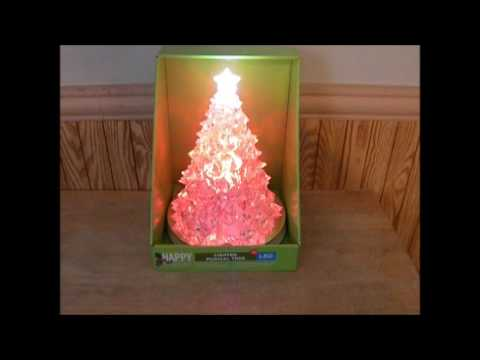 Happy Holidays LIghted LED Musical Christmas Tree