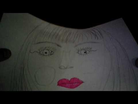 Рисования девушки.Прикольно!!!