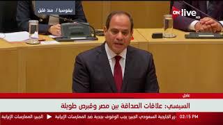 نص كلمة السيسى أمام البرلمان القبرصى - برلمانى