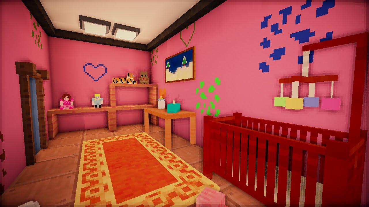 Серия Minecraft - Детская Спальня и Строительные | креативный дизайн комнаты девушки