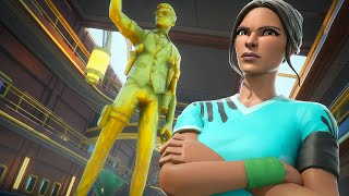 Fortnite built a statue of me in-game...