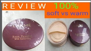 Lakme rose powder warm pink vs soft pink/ Lakme rose powder review