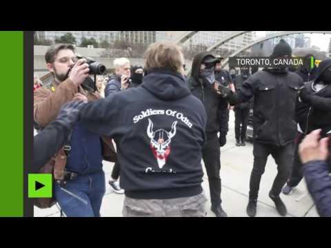 Toronto : échauffourées entre partisans d'extrême droite et d'extrême gauche