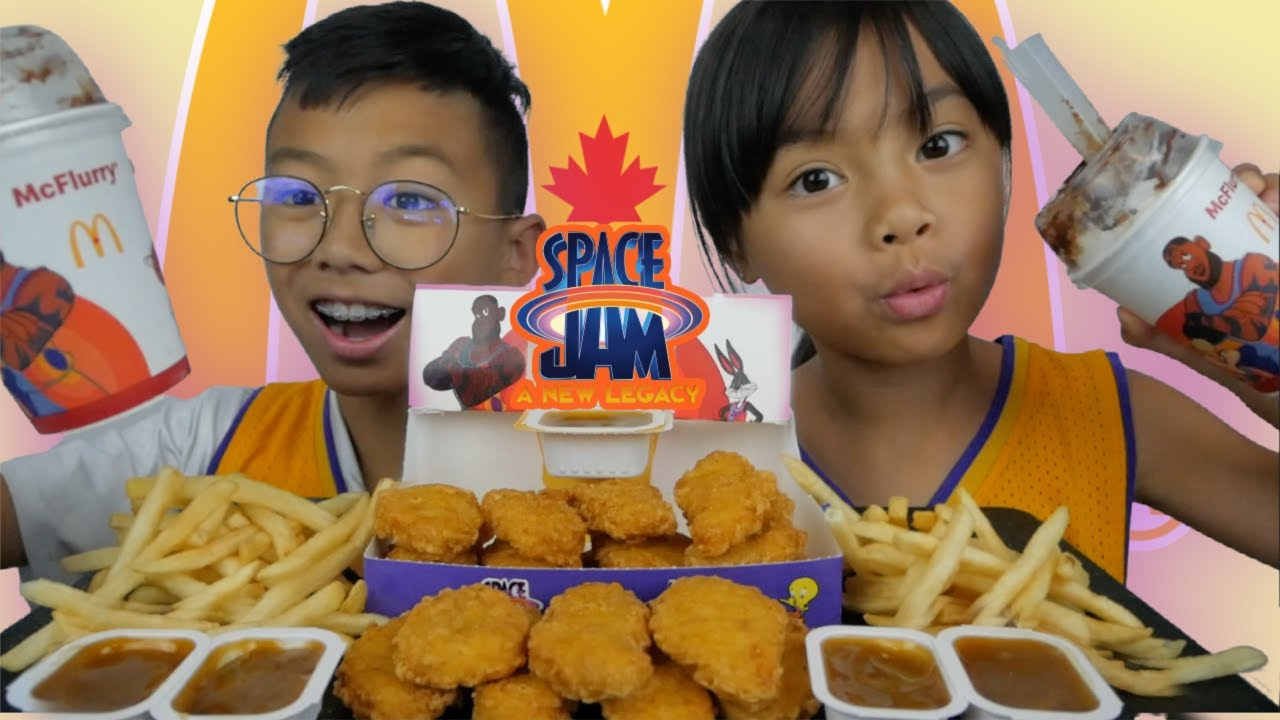 NEW Space Jam Chicken Nuggets & Slam Dunk Mcflurry Meal | N.E Let's Eat