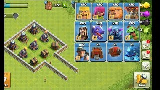 Clash of clans private server game/All troops fight in one base(coc best fight)