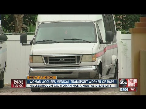 Woman accuses medical transport worker of rape