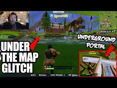 How To Get Under the Map in Fortnite Battle Royale! **INSANE UNDERGROUND GLITCH