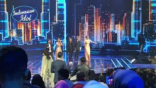 TIARA X ALL JURI X HOST - PAMER BOJO (INDONESIAN IDOL LIVE STUDIO KONSER KEMENANGAN)