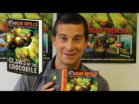 Bear Grylls reading an extract from Claws of the Crocodile