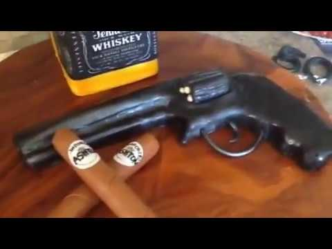 50TH birthday cake Jack DanielsRevolver gunCigar YouTube
