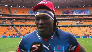 Vodacom Super Hero Sunday | Emirates Lions v Vodacom Bulls | Post-match interview with Tim Agaba