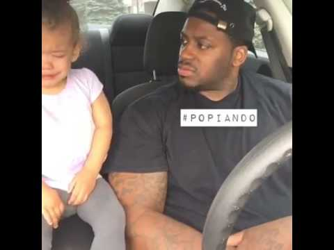 Little girl cry to her daddy