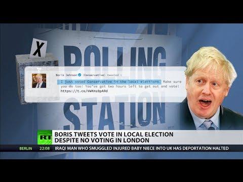 Boris Johnson tweets vote in local election despite no voting in London