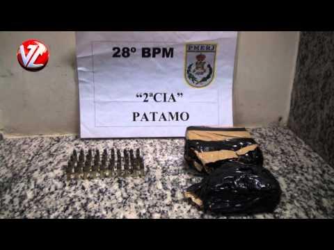 Maconha e munição apreendidas na Vila Independência em Barra Mansa