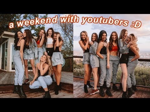 a *crazy* weekend with youtubers (surprise birthday party & hollywood mansion)