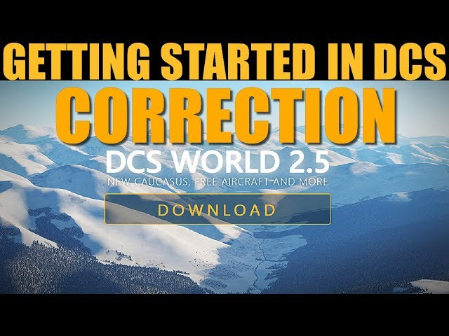 Introduction To DCS WORLD (CORRECTION VID)