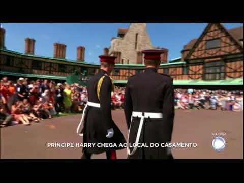 Príncipe Harry chega para o casamento no Castelo de Windsor