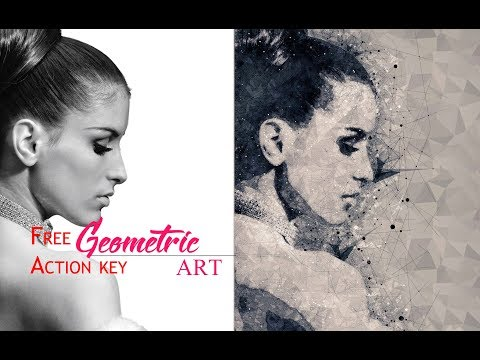 Geometric Art Photoshop Effect Tutorial ( Free action key)