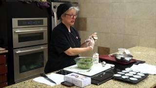 Recipe: Spinach, Roasted Tomato, And Feta Egg White Frittatini