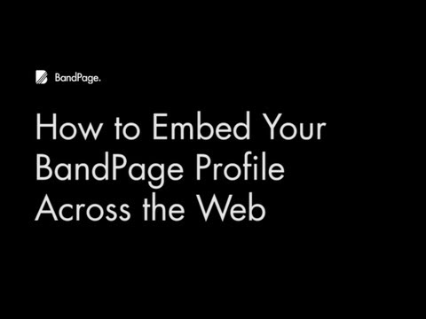 Share your BandPage Profile across the web