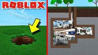 HOW TO BUILD A SECRET UNDERGROUND HOUSE IN ROBLOX BLOXBURG!! | SECRET HOUSE BUILD TUTORIAL