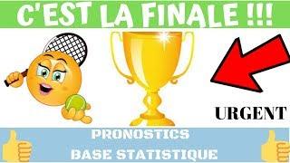 PARIS SPORTIFS : PRONOS TENNIS GROSSE ANALYSE TOP CONFIANCE BASE STATISTIQUE