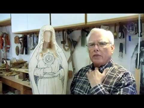 Carving Saint Clare Statue Part 1 of 3