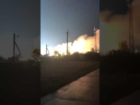 Пожар 30 000 жителей остались без электричества горит станция РЭС  г.Приморск