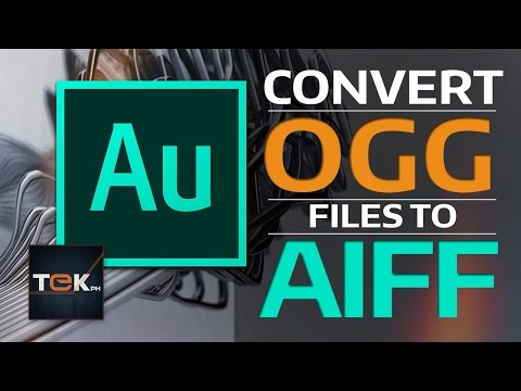 How to Convert OGG to AIFF - Adobe Audition CC
