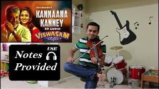 Kannana Kanney violin | Viswasam | Western and Carnatic Notes in description- Use Headphones