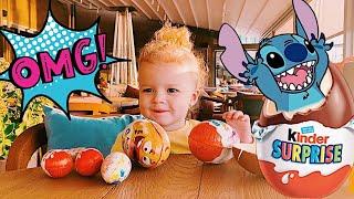 Развлечения | Распаковка Kinder Surprise | Киндер Сюрприз | ВЛОГ