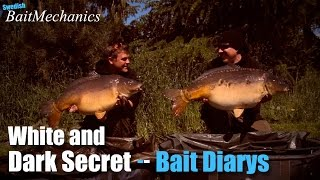 Dark secret and White secret, carp fishing bait diarys