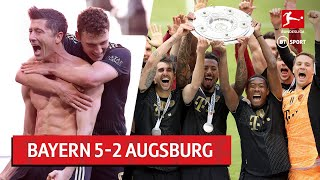 Bayern Munich vs Augsburg (5-2)   Lewandowski breaks goalscoring record!   Bundesliga highlights