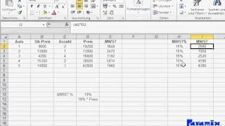 Excel Grundlagen: Absolute Zellbezüge
